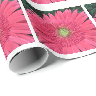 Pink Gerbera Daisy Photograph Wrapping Paper