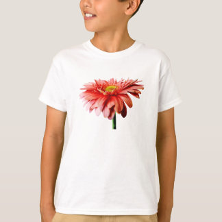 Pink Gerbera Daisy Side View T-Shirt