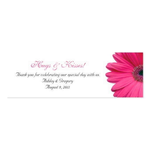 Pink Gerbera Daisy Special Occasion Favor Tags Business Card Template