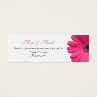 Pink Gerbera Daisy Special Occasion Favor Tags Mini Business Card