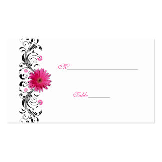 Pink Gerbera Daisy Special Occasion Place Card Business Cards