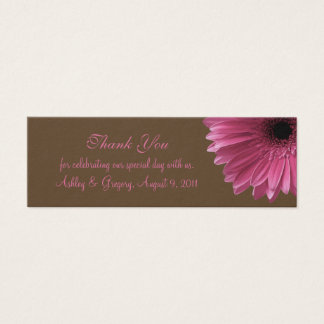 Pink Gerbera Daisy Wedding Favor Tag