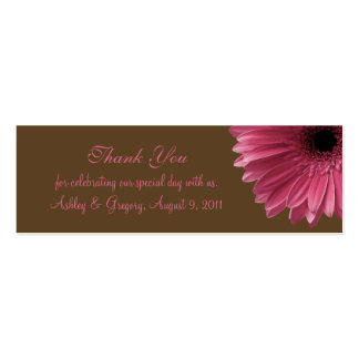 Pink Gerbera Daisy Wedding Favor Tag Pack Of Skinny Business Cards