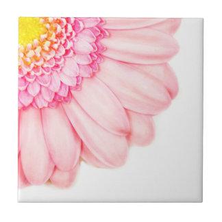 Pink Gerbera Flower Macro Nature Ceramic Tile