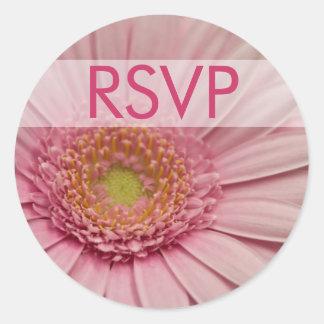 Pink Gerbera • RSVP Sticker
