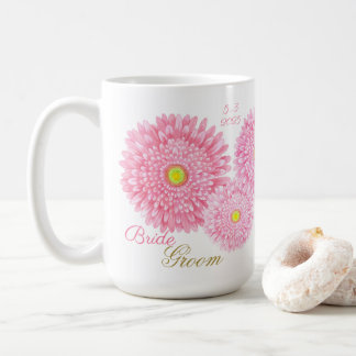 Pink Gerbera Wedding Mug