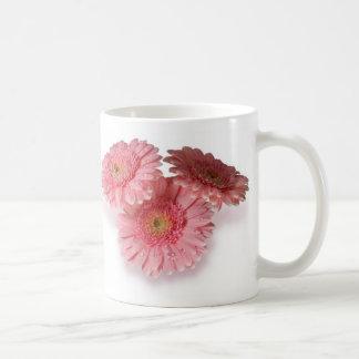 Pink Gerberas Basic White Mug
