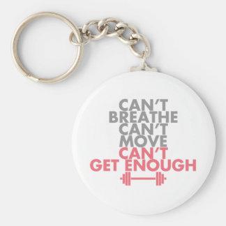 """Pink """"Get Enough"""" Basic Round Button Key Ring"""