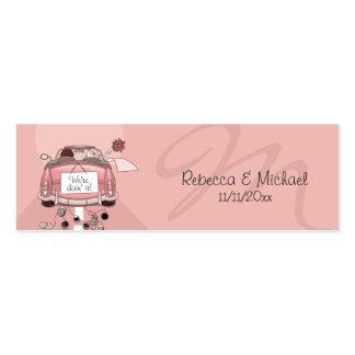 Pink Getaway Car Wedding Favor Tags Pack Of Skinny Business Cards