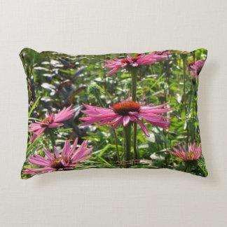 Pink Giant Echinacea Coneflower h-throw Decorative Cushion