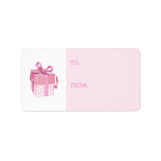 Pink Gift Gift Tag Label Address Label