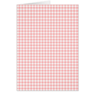 Pink Gingham Card