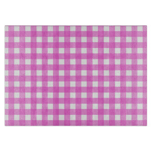 Pink gingham cutting board