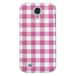 Pink Gingham Galaxy S4 Case