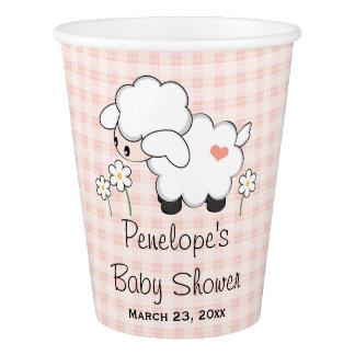 Pink Gingham Lamb Baby Shower