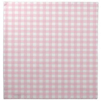 Pink Gingham Napkin
