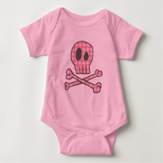 Pink Gingham Pirate Baby Bodysuit
