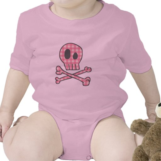 Pink Gingham Pirate Rompers