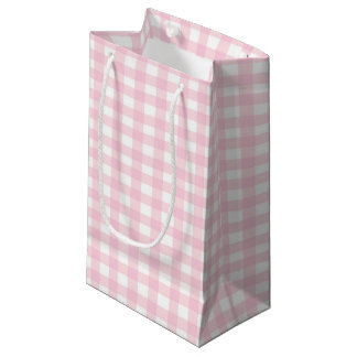 Pink Gingham Small Gift Bag