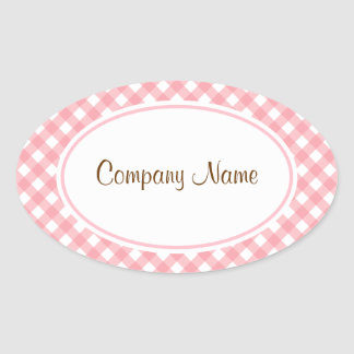 Pink Gingham Stickers