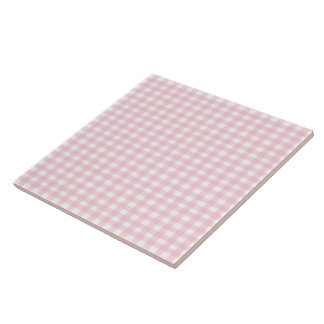 Pink Gingham Tile