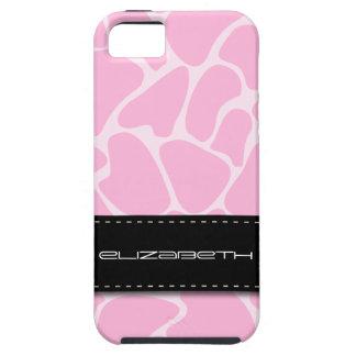 Pink Giraffe Animal Pattern iPhone 5 Cover