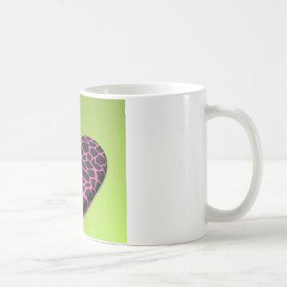 Pink Giraffe Heart Basic White Mug