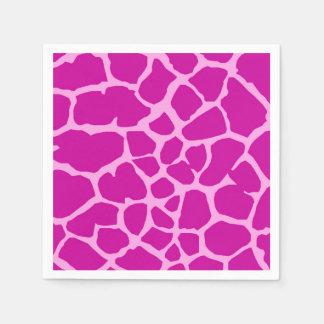 Pink giraffe jungle animal fashion glamour paper serviettes