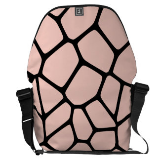 Pink Giraffe Pattern Courier Bag
