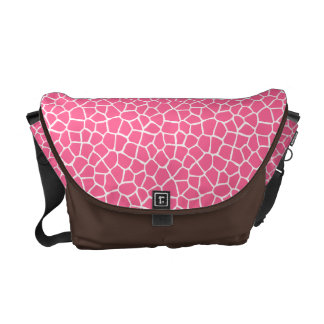 Pink Giraffe Pattern Messenger Bag
