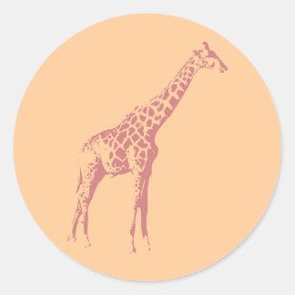 Pink Giraffe Sketch Sticker