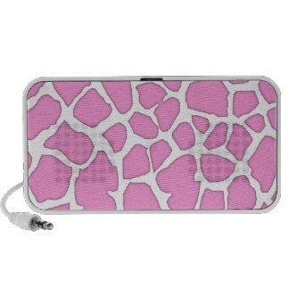 pink giraffe skin mini speaker