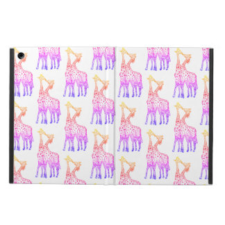 Pink Giraffes iPad Air Case with No Kickstand