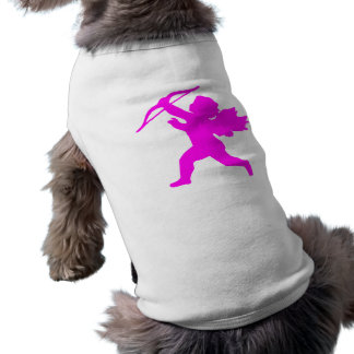 Pink Girl Angel Doggie Ribbed Tank Top Sleeveless Dog Shirt