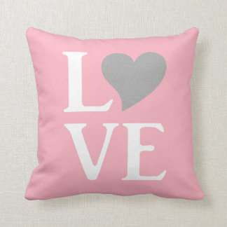 Pink Girl Love Celebration Party Throw Pillow