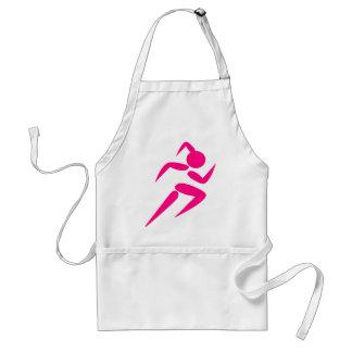 Pink Girl Running Standard Apron