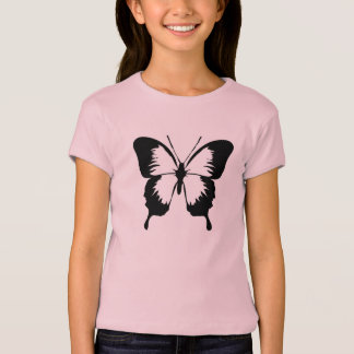 Pink girl T-shirt with butterfly