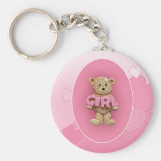 Pink Girl Teddy Bear Keychains