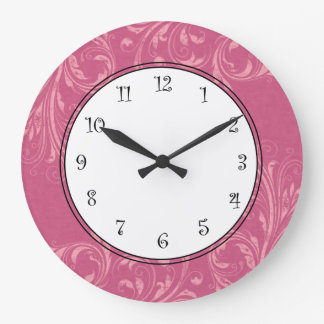 Pink Girls Wall Clocks