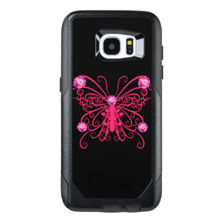 Pink Girly Butterfly Bling