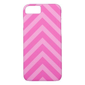 Pink girly chevron pattern arrows iPhone 7 case