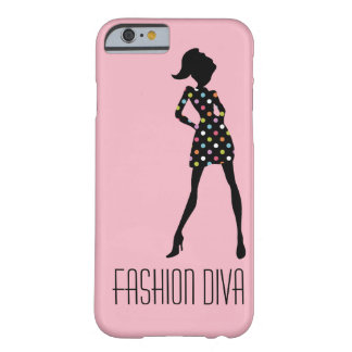 Pink Girly Fashion Diva Barely There iPhone 6 Case