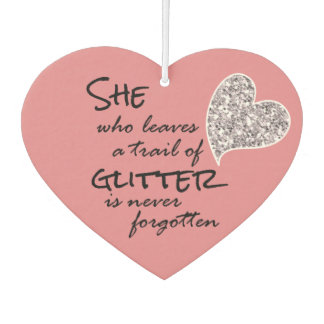 Pink Girly Glitter Quote