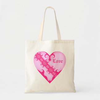 Pink girly medieval victorian romantic love heart bags