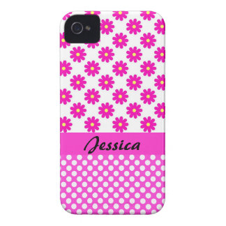 Pink Girly Name - iPhone 4 Cover