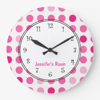 Pink Girly Personalized Clocks