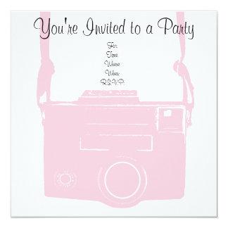 Pink Girly Retro Film Camera Invitation