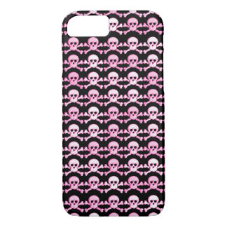 pink girly skulls pattern iPhone 7 case