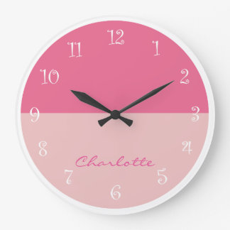Pink Girly Wall Decor Clock