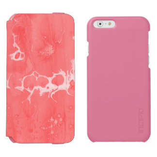 Pink girly water texture design, marbling paper incipio watson™ iPhone 6 wallet case